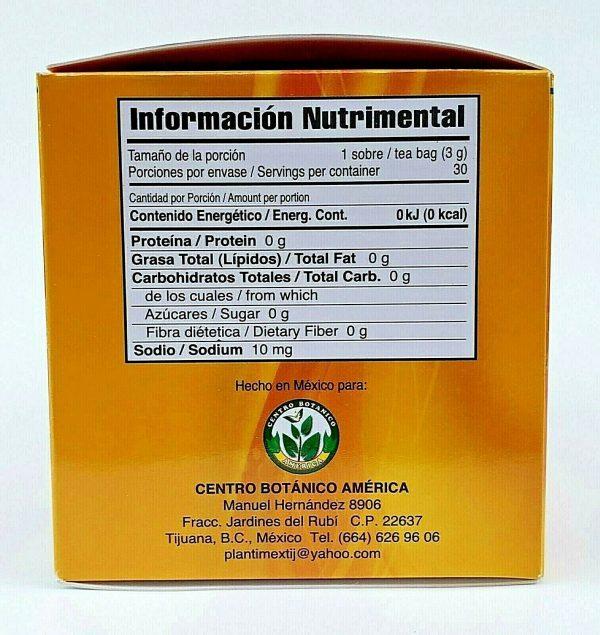 TE DE CHUPA PANZA TEA Jegibre + Bamitol 30 Bags (Accion Xtreme) Free Shipping 5