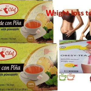 3 Pina Slim Detox Tea Weight Loss Fat Burner Pineapple Te Para Bajar De Peso