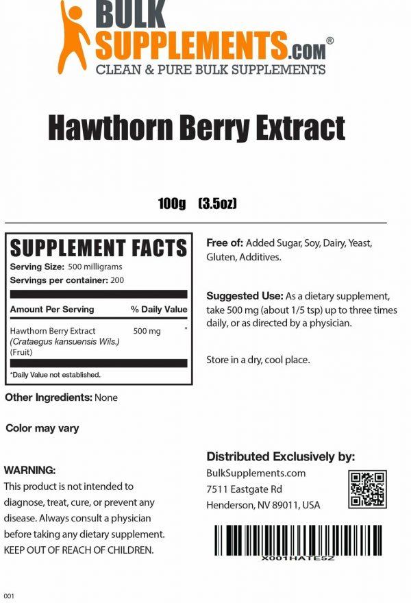 BulkSupplements.com Hawthorn Berry Extract 1