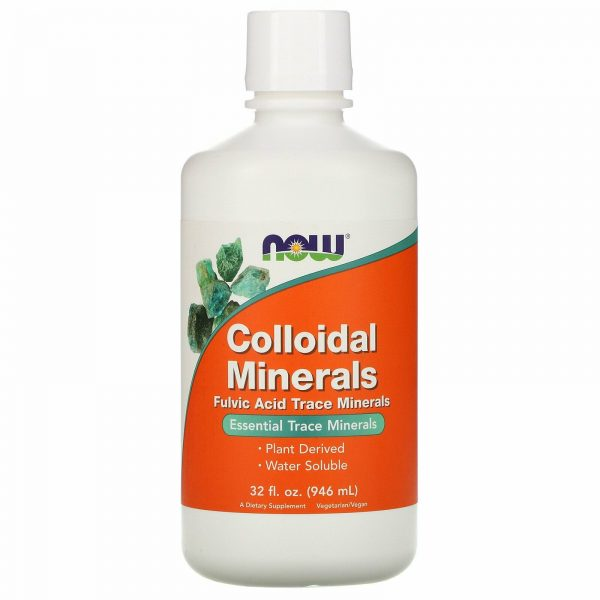 Now Foods Colloidal Minerals 32 fl oz 946 ml GMP Quality Assured, Vegan,