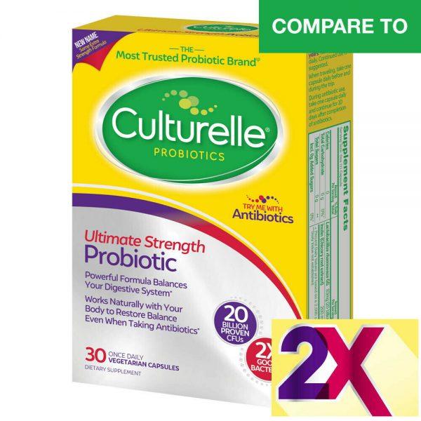 BULKPROBIOTICS Culturelle 20 Billion CFU Ultimate Strength Probiotic VEGAN