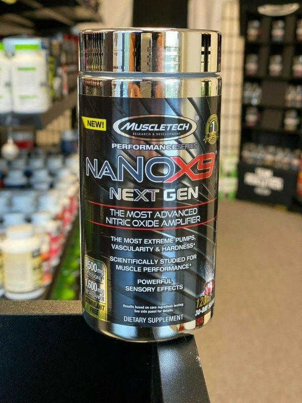 MuscleTech naNOX9 Next Gen Hard Hitting N.O. Pump Amplifier 120 Caps Free SHIP