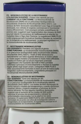 Maximum Strength NMN Plus (Nicotinamide Mononucleotide) 500mg - 60 Caps 10/19/23 1