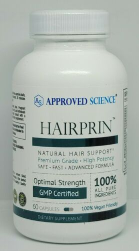 Approved Science Hairprin Natural Hair Support Supplement 60 Capsules New 09/23