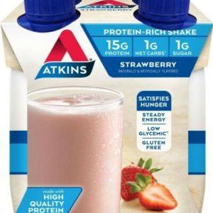 ♨️12 pk Atkins Gluten Free Protein-Rich Shake, Strawberry, Keto Friendly♨️ 1
