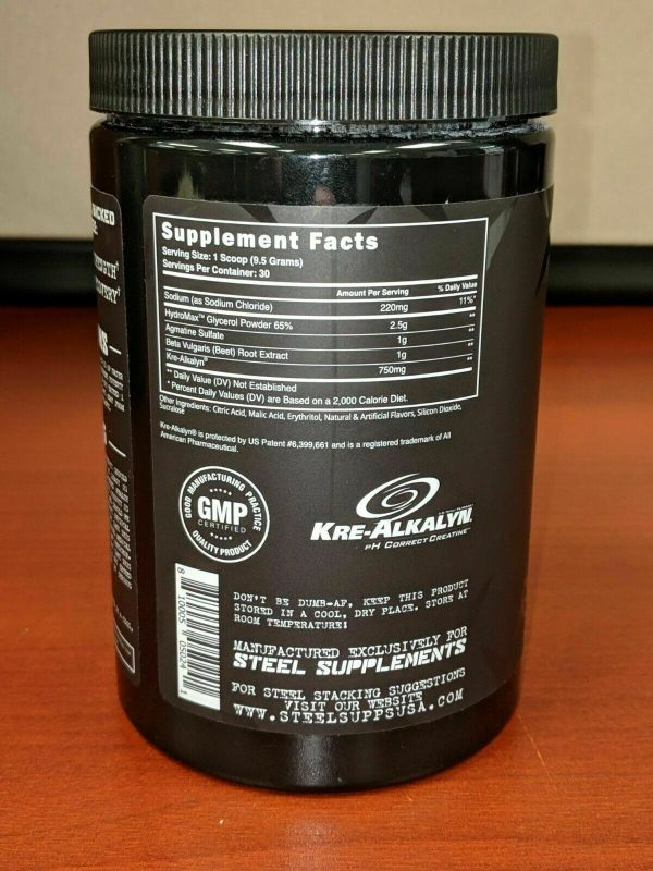 Steel Supplements Pumped-AF / Pre-Workout / Pump / CLUMPY Strawberry Watermelon 2