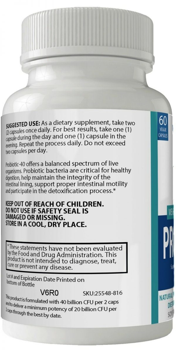 2 Bottle Pack Provitalize Probiotic Weight Management Pills ORIGINAL by n4h 3