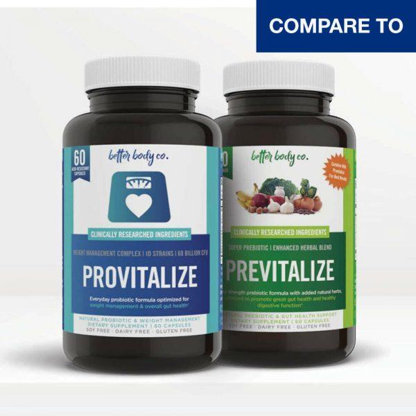 BULKPROBIOTICS Provitalize & Previtalize Probiotic + Prebiotic Weight Loss VEGAN
