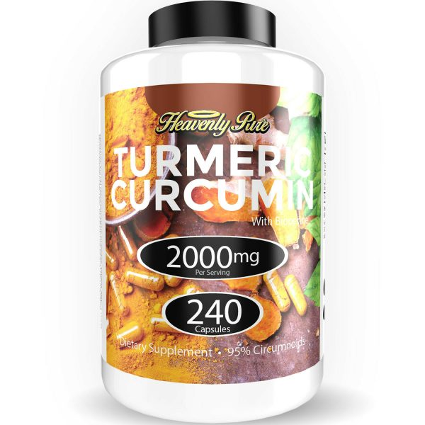 Turmeric Curcumin 2000 mg High Absorption Extra Strength Vegan Capsules 240 Ct 5