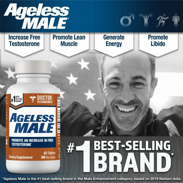 Ageless Male Free Testosterone Booster by New Vitality - NEW - 60 Tablets 3