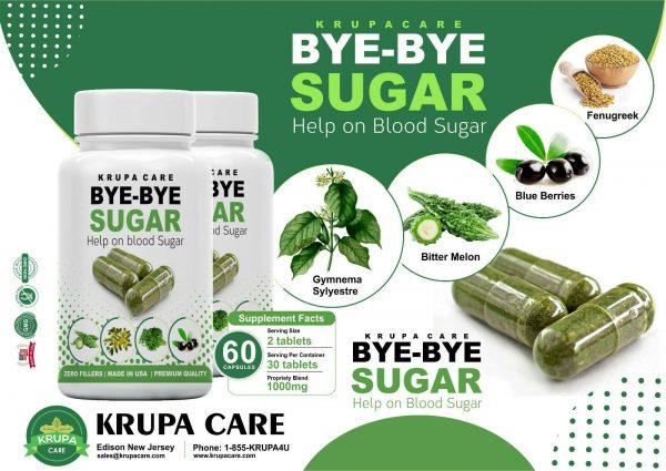 """KRUACARE"" BYE BYE Suger Help on Blood Sugar , Diabetic Supplement  60 capsuals 2"