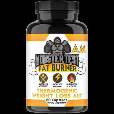 Monster Test Men's Testosterone Booster, Fat Burner Weight Loss Diet Pills 3PK 2