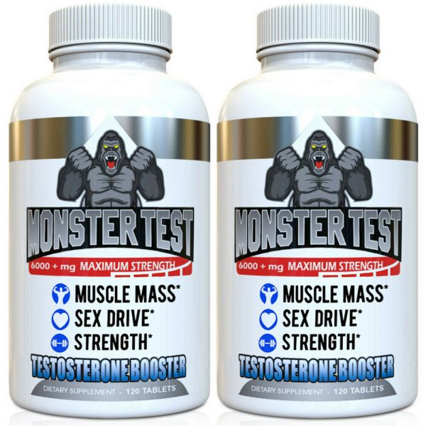 Testosterone Booster Monster Test for Men More Muscle Mass 6,000+ MG 2 Pack  1