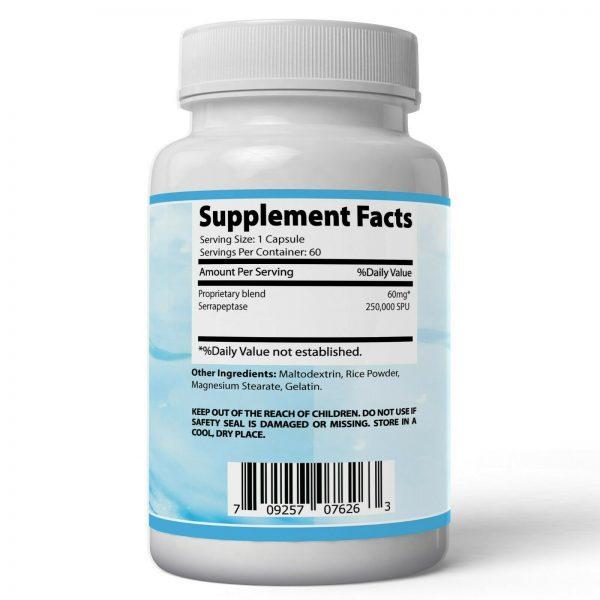 Absonutrix Serrapeptase 250000SPU 60  Reduce Inflammation Promote Heart Health 1