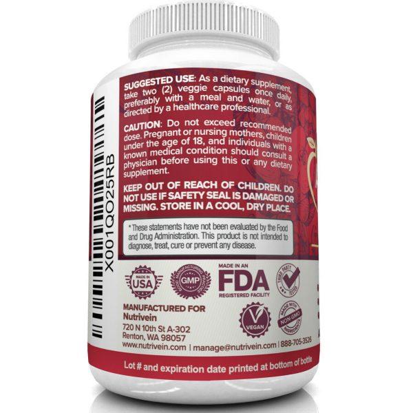 Nutrivein Apple Cider Vinegar Capsules with Mother 1600mg - 120 Pills - Detox  4