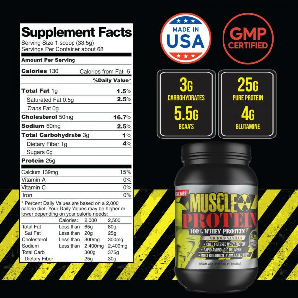 Colossal labs Whey Protein Powder 5lbs Monster Muscle isolate/blend 68 servings 1