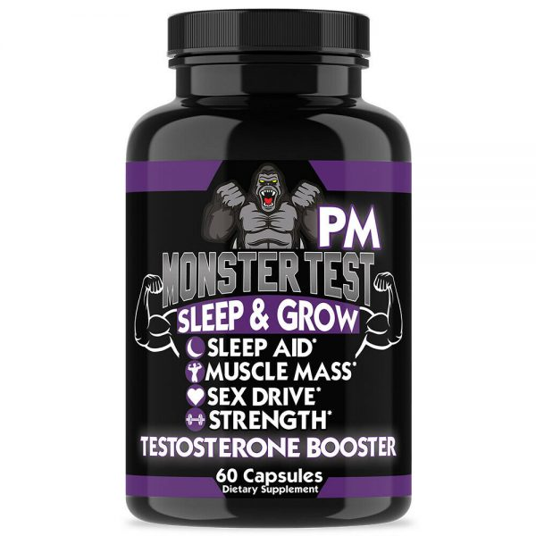 Monster Test Testosterone Booster Testosterona Supplement for Men AM and PM 2 Pk 5