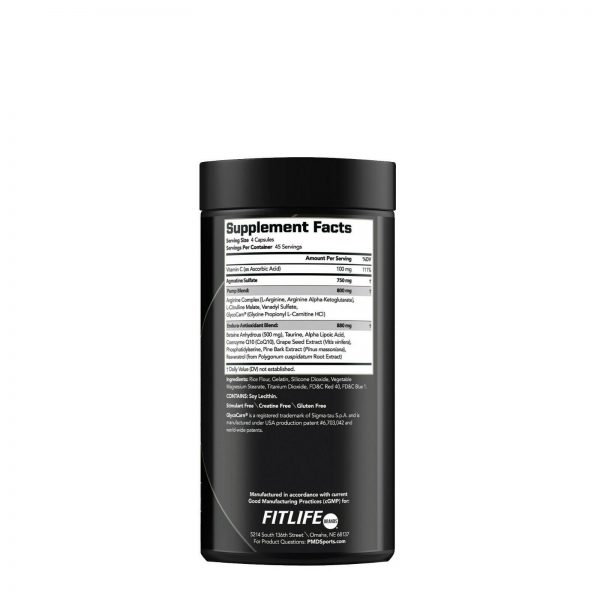 PMD NITRO CM Powered w/AGMATINE-Nitric Oxide Booster 180cap (FREE SHIPPING) 1
