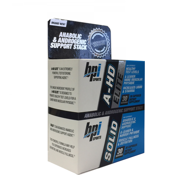 BPI Sports A-HD Elite & Solid Combo 30 Capsules