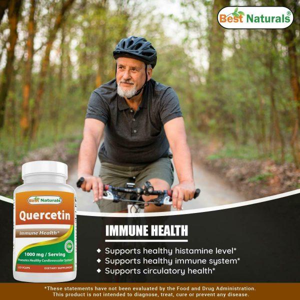 Best Naturals Quercetin 1000 mg/Serving 120 Veggie Capsules  3