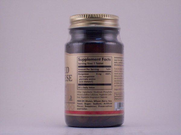 Solgar Chelated Manganese 100 Tablets 1