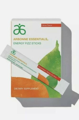 Arbonne essentials energy fizz sticks citrus flavor 30 packs ~ Ex 03/2022