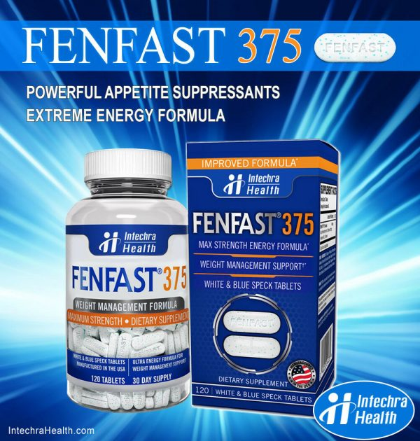 Fenfast 375 Weight Loss Diet Pills with Powerful Energy 120 White/Blue Tablets 7