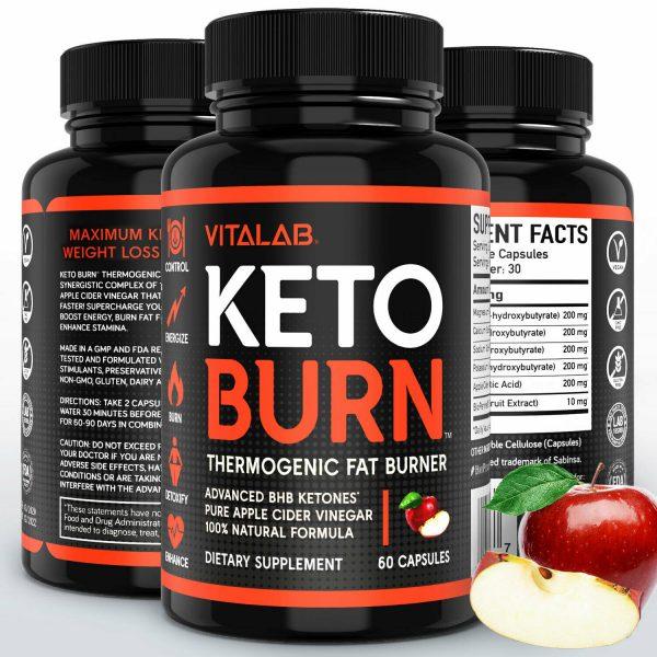 Weight Loss Pills Apple Cider Vinegar Fat Burner ACV Keto Diet Supplements 60ct