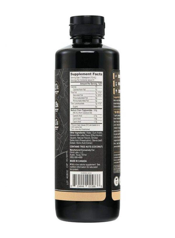 Emulsified MCT Oil - Almond Milk Latte (16oz) - Free Shipping 2