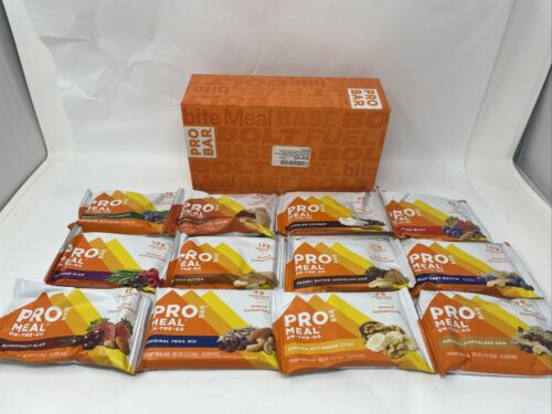 PROBAR Meal Bar Variety Pack Non-GMO Gluten-Free Healthy Plant-Based Exp 04/2021