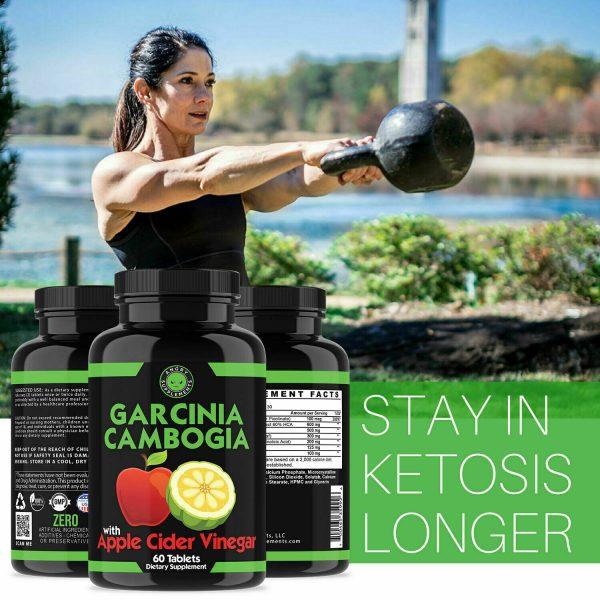 Weight Loss Garcinia Cambogia w/ Apple Cider Vinegar & CLA, ACV Fat Burner Pills 9