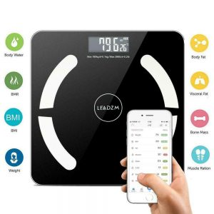 Bluetooth Digital Bathroom Scale LCD Body Fat Weight Muscel Scales 180kg/396lbs