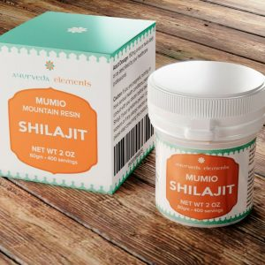 Authentic Mountain Shilajit Resin + Measuring Spoon: 400 Servings, 2 OZ 1