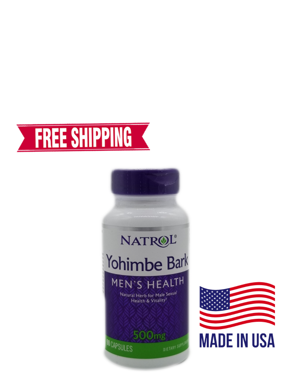 Natrol Yohimbe Bark Mens Health 500 mg 90 Capsules FREE Shipping