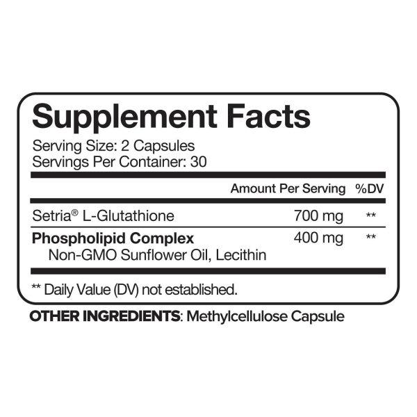 Nutrivein Liposomal Glutathione Setria 700mg - 60 Capsules - Master Liver Detox  2