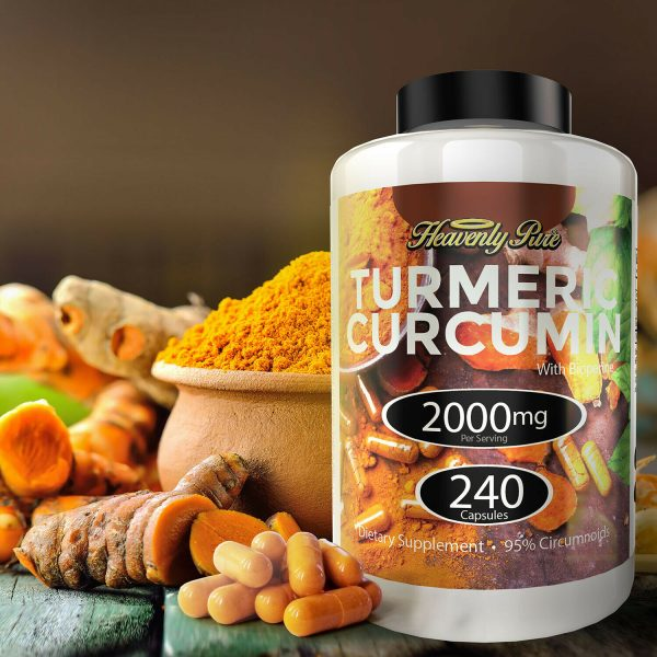 Turmeric Curcumin 2000 mg High Absorption Extra Strength Vegan Capsules 240 Ct 4