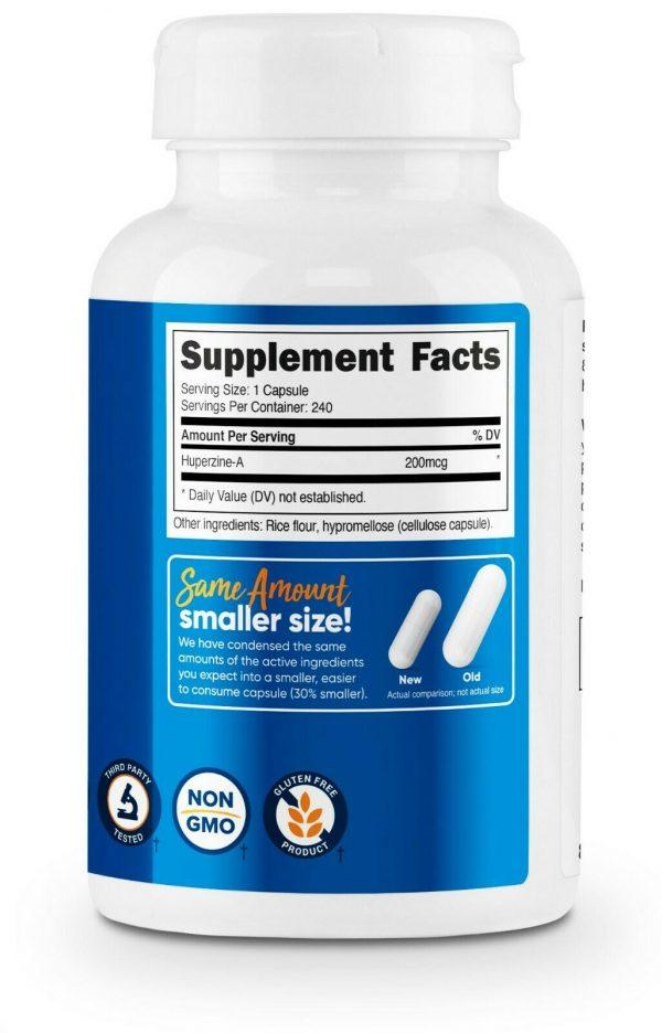 Nutricost Huperzine A Capsules 200mcg, 240 Capsules - Non-GMO, VegetariaFriendly 4