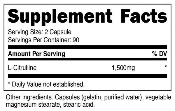 Nutricost L-Citrulline 750mg, 180 Capsules - Gluten Free & Non-GMO 1