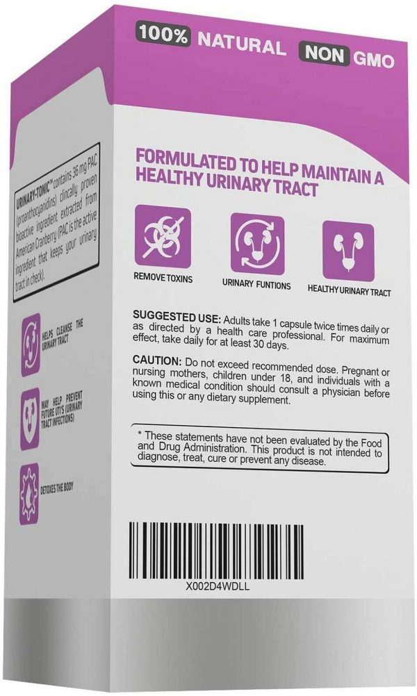 Urinary-Tonic Urinary Tract Cleanse Treatment Formula (UTI) with 36 mg PAC Me... 4