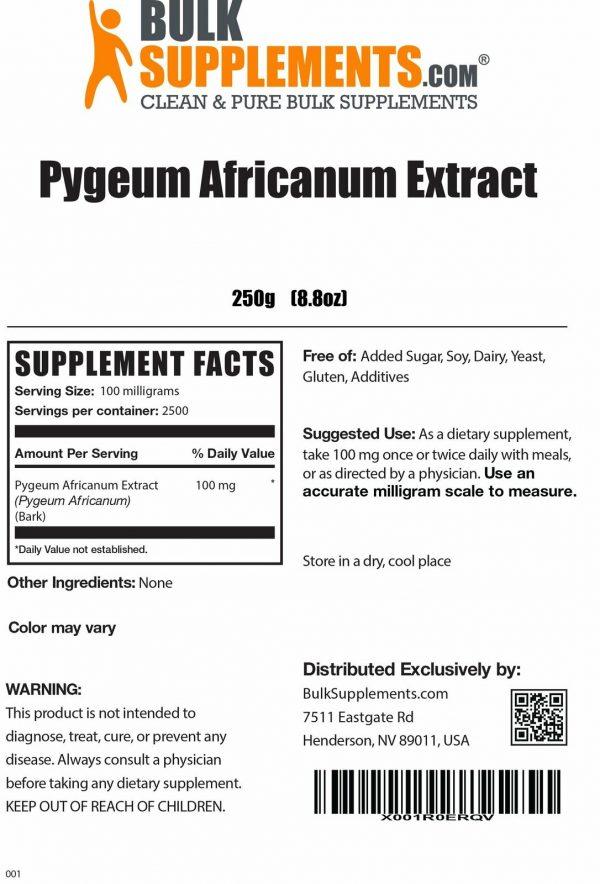 BulkSupplements.com Pygeum Africanum Extract  2