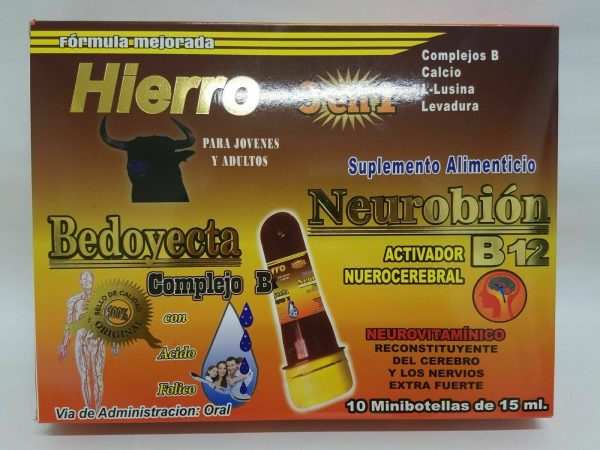 Ampolletas BEDOYECTA NEUROBION HIERRO 10 Botellas 15ml C/U                 CIMAE