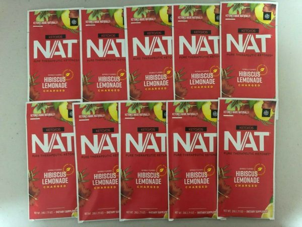 Pruvit Keto OS NAT Hibiscus Lemonade Charged 5, 10 & 20 Packs Free Shipping! 1