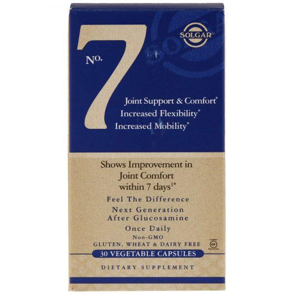 Solgar No. 7 Joint Support & Comfort 90 Vegetarian Capsules Best Price !
