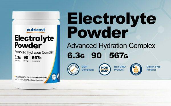 Nutricost Electrolyte Powder, Advanced Hydration Complex, 90 Servings, (POG) 2