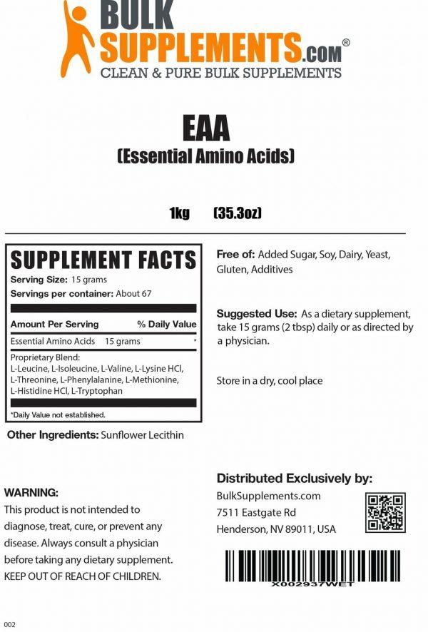 BulkSupplements.com Essential Amino Acids (EAA) 4