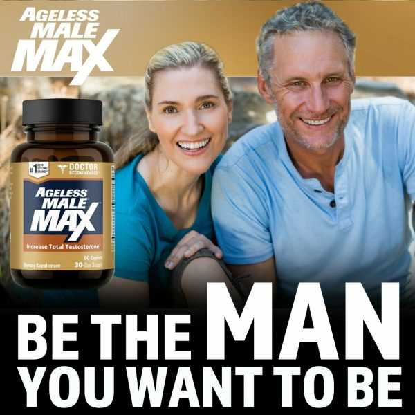 Ageless Male Max Testosterone Booster by New Vitality - 60 Caplets FREE Shipping 4