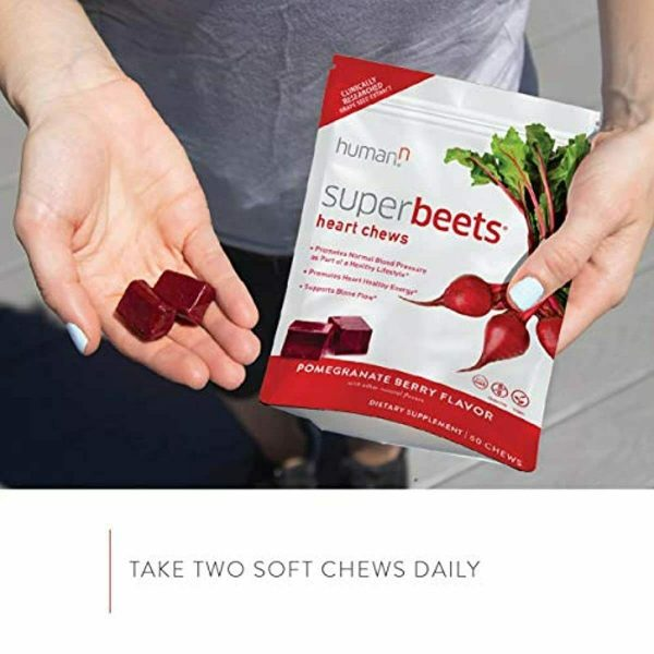 HumanN SuperBeets Heart Chews | Grape Seed Extract and Non-GMO Beet Powder Helps 5
