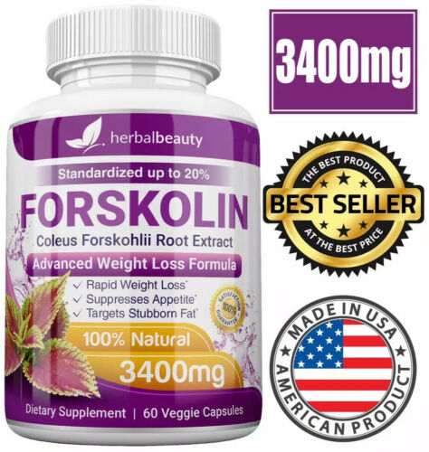 6 x Herbal Beauty FORSKOLIN 3400mg Maximum Strength RAPID RESULTS Pure Extract 2