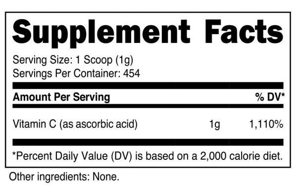 Nutricost Vitamin C Powder (1LB) - Pure Ascorbic Acid 1
