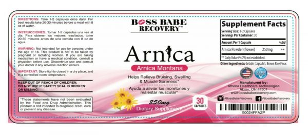Arnica Pills, Arnica Tablets, Arnica Capsules Reliever for Swelling & Bruises  2
